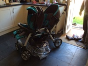 Double pushchair buggy